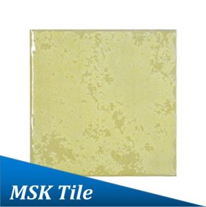 100X100mm Yellow Gloss Rustic Glazed Porcelain Tile pictures & photos
