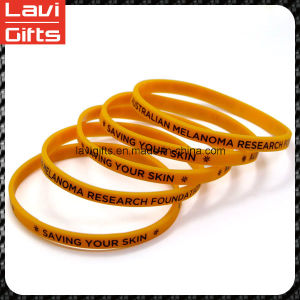 Beautiful Custom Thin Silicone Rubber Bracelet with Logo pictures & photos