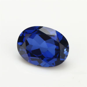 AAA Quanlity Oval Cut 34# Blue Synthetic Ruby Stone Corundum Gemstone pictures & photos