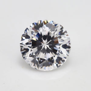 Factory Price Hong Kong 9 Hearts & 1 Flower Blue Cubic Zirconia Gemstone pictures & photos