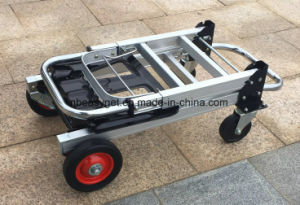 2 in 1 Aluminum Hand Truck 200kgs Capacity Hand Truck Dolly Convertible Hand Truck Utility Cart Esg10155 pictures & photos
