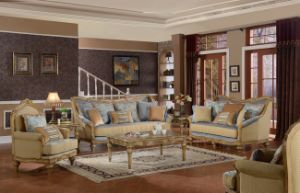 American Classic Fabric Sofa for Living Room Antique Home Furniture Set pictures & photos