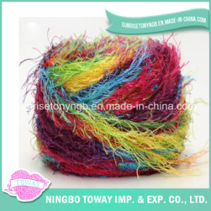 Acrylic Polyester Nylon Sequins Multicolored Pinaster Eyelash Fancy Yarn pictures & photos