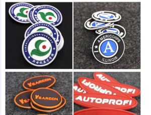 Rubber Patch (KS-RL0365) Customized 3D Logo Soft PVC Silicone Rubber Badge Silicone Patch pictures & photos