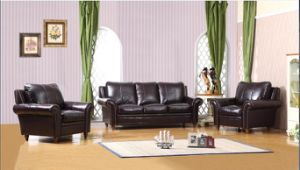 Living Room Furniture Sofa with Genuine Leather Modern Sofa Set pictures & photos