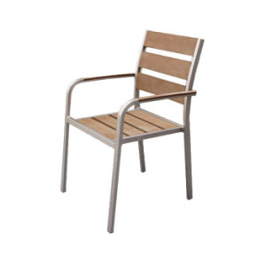 Polywood Arm Dining Chairs Aluminum Restaurant Set Furniture Metal Plastic Wood Chair pictures & photos