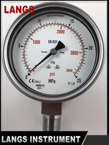 072 W Type Bottom Connection All St St Pressure Gauge pictures & photos