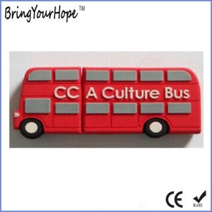 2D Rubber Design Bus Shape USB Memory Drive (XH-USB-119) pictures & photos