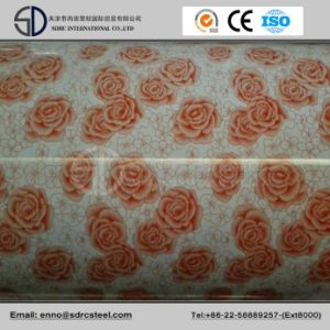 Decorating Flower Pattern Galvanized Steel Coil Grain PPGI pictures & photos