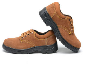 Black Gray Safety Shoes with Steel Toe Cap pictures & photos