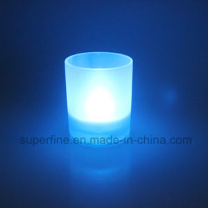 Romantic Wholesale Flameless Multicolor Birthday Decorative Scented Glass Jar Candle Light pictures & photos