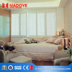 Wood Grain Electric Aluminum Shutter Window pictures & photos
