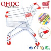 Factory Selling Taobao Grocery Shopping Cart Miniature Trolley Trolis with 4 Inch Wheels for Supermarket Trolley