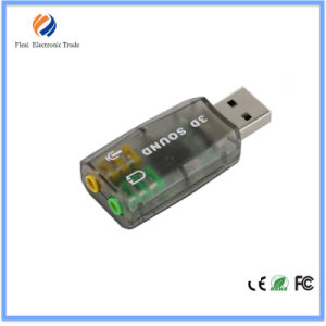Hot Sell External USB Virtual 5.1 Channel Sound Card pictures & photos