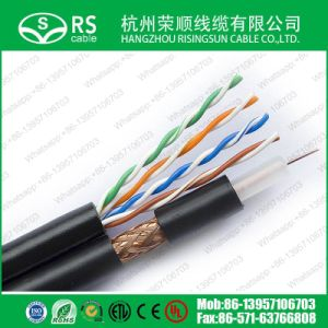 Composite LAN Cable and Coaxial Cable Rg59+Cat5e 1000feet Black