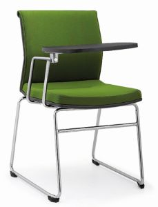 Office Furniture Metal Leather Training Office Chair with Tablet (OP-R935-1)
