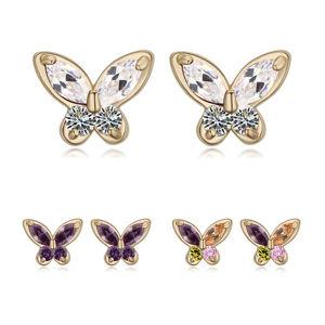 Girl′s New Design Daisy Zircon Stud Earrings