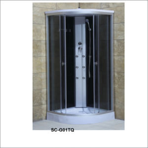 Rectangle Shower Cabin with Shelf with Top Shower and Six Jets/Nozzles pictures & photos