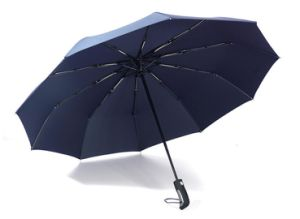 Promotion Polyester Auto Open and Close Premium Fold Umbrella pictures & photos