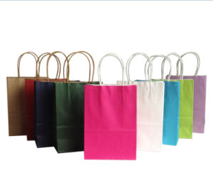 Customized Colorful White Kraft Paper Bag for Garment