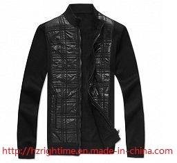 Men′s Clothing 100%PU Jacket with Body Quilting (RTJ14007) pictures & photos