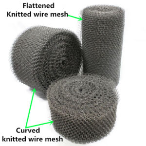 0.26 mm Wire, 50-70 Cm Width, 50 M Length Ss304, 304L, 316, 316L Knitted Wire Mesh pictures & photos