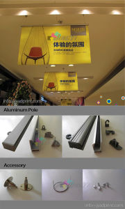 Indoor Advertising Vertical Ceiling PVC Vinyl Display Hang Banner pictures & photos