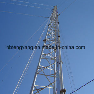 Trianglar Steel Rod Guyed Communication Tower pictures & photos