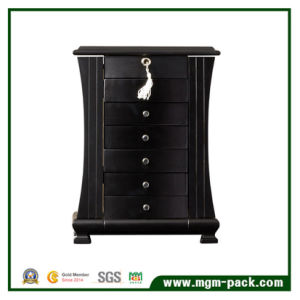 Black Wooden Jewelry Storage Box with Drawer pictures & photos