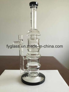 Glass Smoking Pipe Glass Water Pipe with Double Honey Comb Disks Hot Selling pictures & photos
