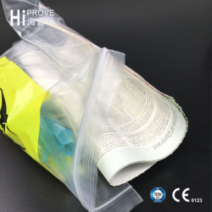 Ht-0619 Colorful LDPE 4-Walls Medical Specimen Transport Self Seal Plastic Bags pictures & photos