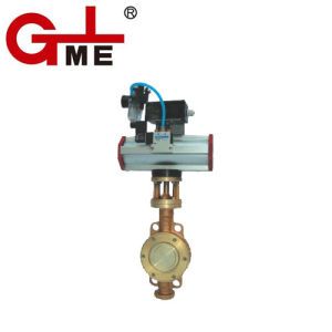 Oxygen Special Pneumatic Butterfly Valve (Dy671) pictures & photos
