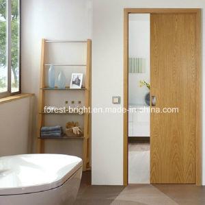 Flush Sliding Wood Door for Bathroom pictures & photos