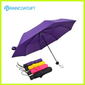 Manual Open Metal Frame Advertising 3 Foldable Umbrella pictures & photos