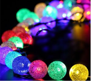 Freeshipping 30LED Outdoor Solar String Lights Warm White Crystal Ball Christmas Lights for Garden, Yard, pictures & photos