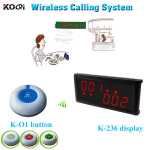 Wireless Table Order Buzzer System Button Caller for Service Display for Counter pictures & photos
