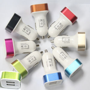 Newest 2 Port 1.0-2.1A USB Car Charger, for iPhone 6 Samsung Portable Charger, Car Charger pictures & photos