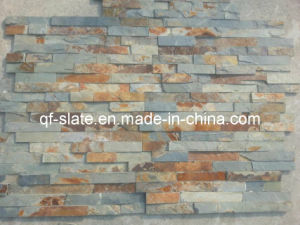 100% Z Shape Natural Multicolor Slate Brick Stone, Rusty Slate