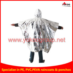 Pet Aluminum Foil Survival Emergency Poncho