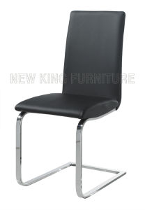 Modern Cheap Chrome Steel Foot PU Leather Dining Chair (NK-DC048) pictures & photos