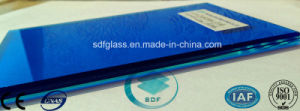 Double Clear Float+Dark Blue PVB Laminated Glass