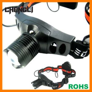 Chengli High Power Aluminum 120lumens CREE 3W LED Zoomable LED Headlamp with 3PCS AAA Size Battery (LA275)