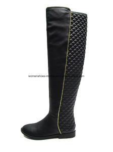 New Style Women Fashion Flat Heel Overknee Boots for Office pictures & photos