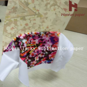 100GSM Heavy Sticky Anti-Ghost Tacky Sublimation Transfer Printing Paper for Sportswear/Active Wear pictures & photos