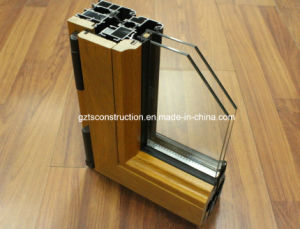 Double Glazing Aluminum Cladding Wood Door pictures & photos