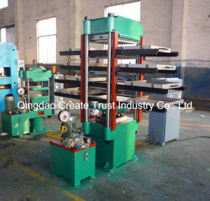 Environmental Rubber Tile Production Line with New Technical for Output pictures & photos