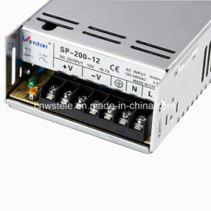 Sp-200 200W 12VDC High Efficiency Single Output Power Supply pictures & photos