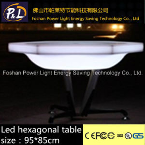 Outdoor Colorful LED Furniture LED Table LED Hexagonal Table pictures & photos