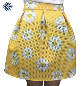 Ladies Fashion Printed Pleated Tutu Skirt (LDS-33)