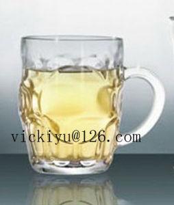 High Quality Glass Priniting Mug, 500ml Glass Milk Mug pictures & photos